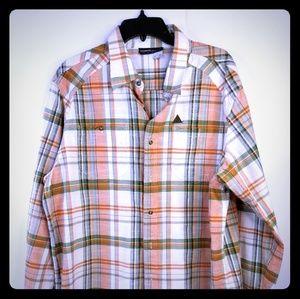 Rocawear Button Front Shirt Men's 2XL Multi-Color